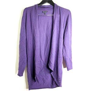 Eileen Fisher Merino Wool Open Front Cardigan